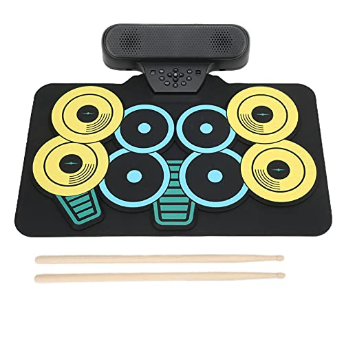 Gerolltes Schlagzeug, leicht zu reinigendes elektronisches Silikon-Drum-Set für Reiseunterhaltung für Familienunterhaltung