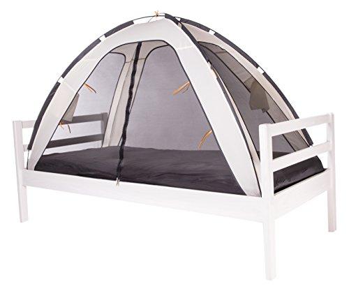 DERYAN Bedtent - Moskitonetz für Bett - Cream - Schützt Ihr schlafendes Kind vor Mücken und Insekten - Leicht und Kompakt - Tragbares Reise Moskitonetz