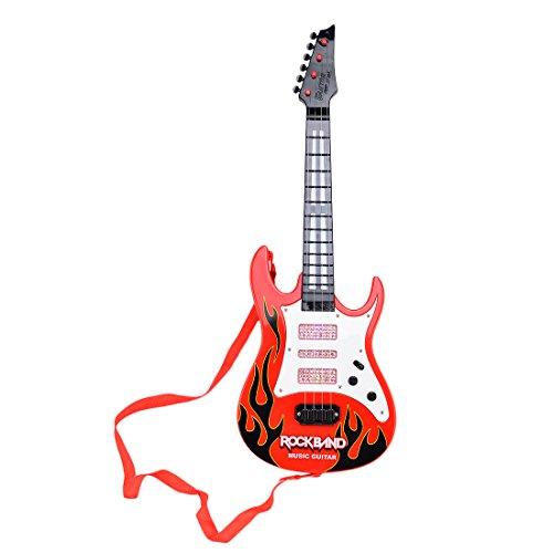 HYMAN Kinder Gitarre, 4 Saiten Kinder Elektrische Gitarre Musikinstrument Spielzeug für Anfänger, 53 x 18 x 4 cm