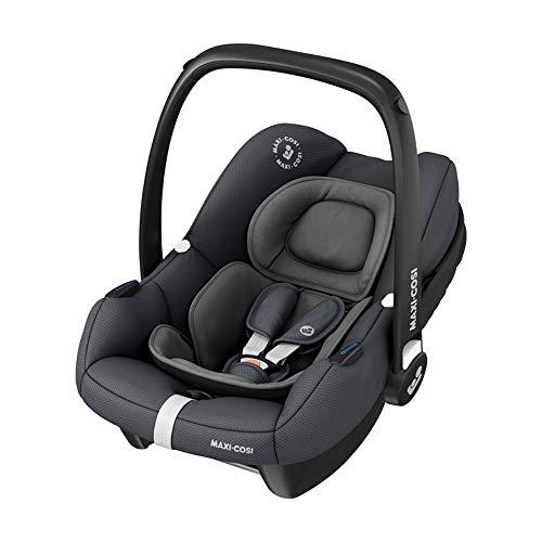 Maxi-Cosi Tinca i-Size Babyschale, sehr leichter Gruppe 0+ Autositz (nur 3,2kg), inkl. Sonnenschutz, nutzbar ab der Geburt bis zu 75 cm (0-12 kg), Essential Graphite, Grau
