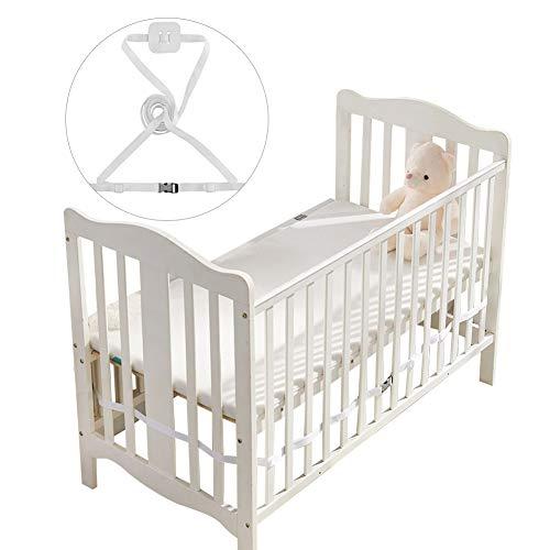 Gurt für Babybett,Beistellbett Befestigung,Beistellbett Gurt,Gurt für Boxspringbetten,Beistellbett Gurt Weiß (Weiß)