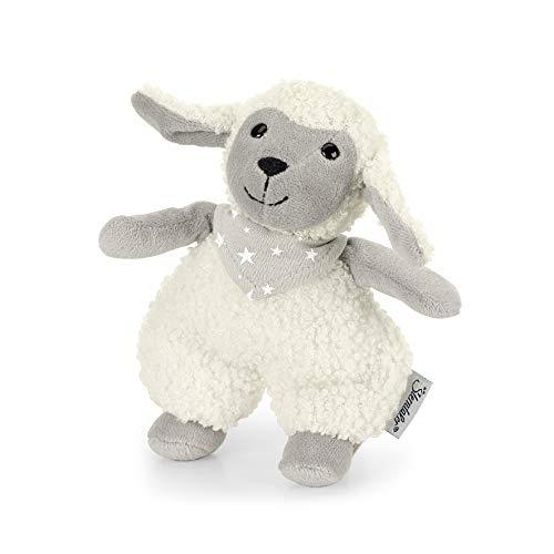 Sterntaler 3051968 Mini-Spieltier Schaf Stanley, Integrierte Rassel, Alter: Für Babys ab der Geburt, 14 cm, Beige