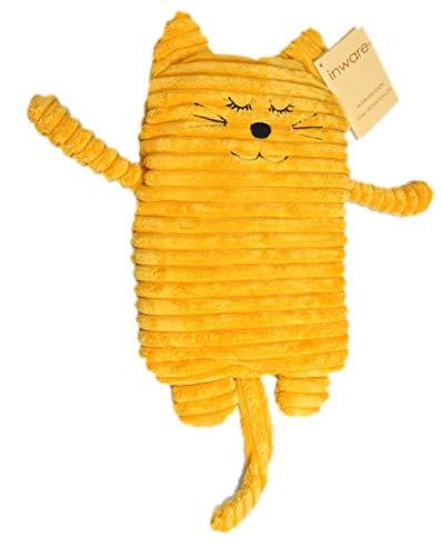Inwolino 4038904087854 8785 - Wärmetier Katze, 17 x 26 cm, Wärmekissen, gelb
