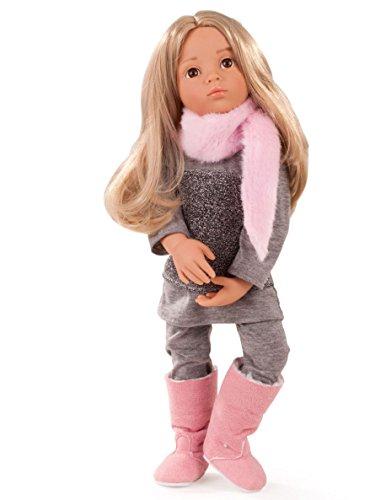 Götz 1466023 Happy Kidz Emily geht ins Kino Puppe - 50 cm große Multigelenk-Stehpuppe mit blonden Haaren, braunen Augen - 6-teiliges Set