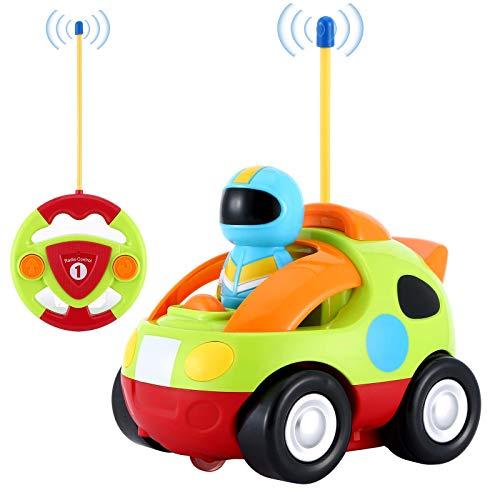 OCDAY Ferngesteuertes Auto Spielzeugauto für Kleinkinder Polizeiauto ab 2 Jahren mit Lichtern und Sound, Geschenk für Jungen Mädchen Kinder (Grün)