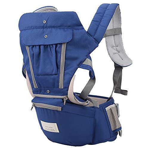 Zerodis Baby Hipseat Verstellbarer Baby Carrier Kleinkinder Ergonomischer Verdickender Hipseat für Neugeborene und Neugeborene(Blau)
