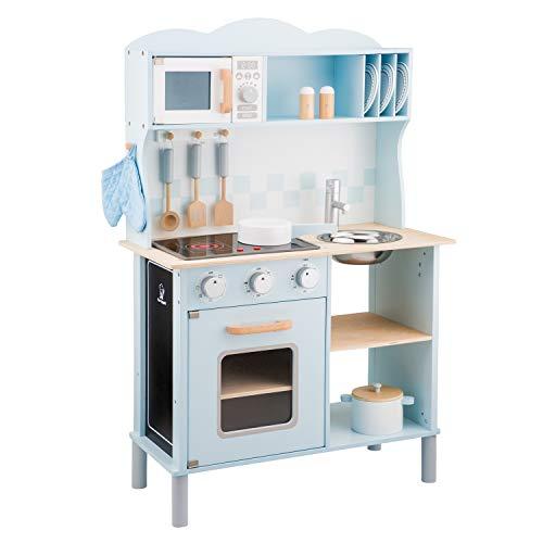 New Classic Toys 11065 Küchenzeile-Modern mit Kochfeld, Multi Color