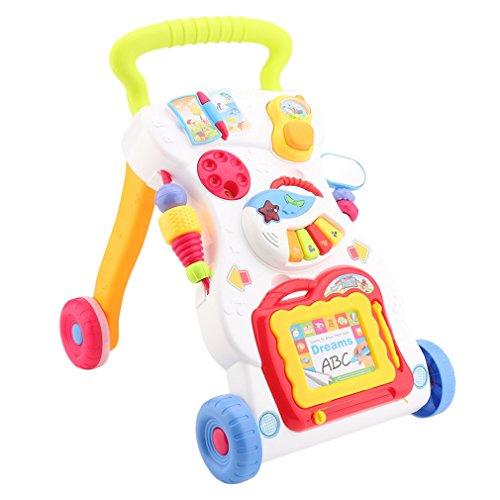 Lauflernhilfe,3 in 1 Lauflernhilfe Gehhilfe Musik und Spielzeugen,Musikalischer Lauflernwagen Laufwagen für Babys ab 6 Monaten