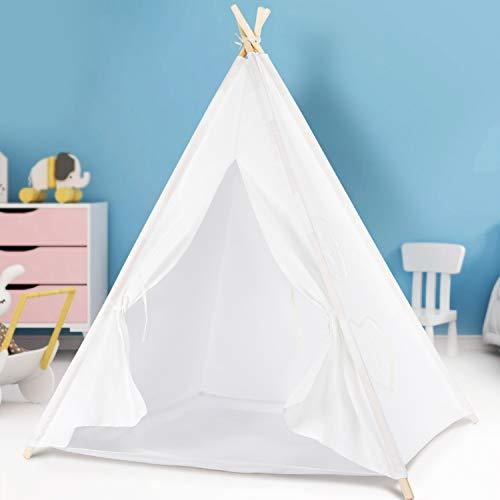 Peradix Tipi Spielzelt für Kinder Mädchen Teepee Indianerzelt Prinzessinnenschloss Kinderzelt mit Aufbewahrungstasche und DIY-Flagge, Indoor & Outdoor
