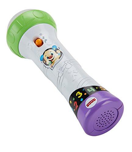 Fisher-Price FBP32 Lernspaß Mikrofon Lernspielzeug für Buchstaben Zahlen Farben und Sätzen mit Aufnahmefunktion, ab 18 Monaten deutschsprachig