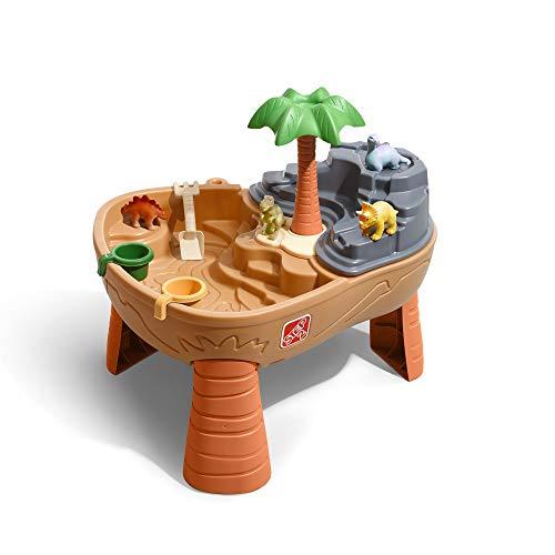 Step2 Dino Dig Sand & Wassertisch mit Dinosaurier & Jungle | Wasserspieltisch für Kinder mit 7-teiligem Zubehör Set | Wasserspielzeug / Sandtisch für den Garten