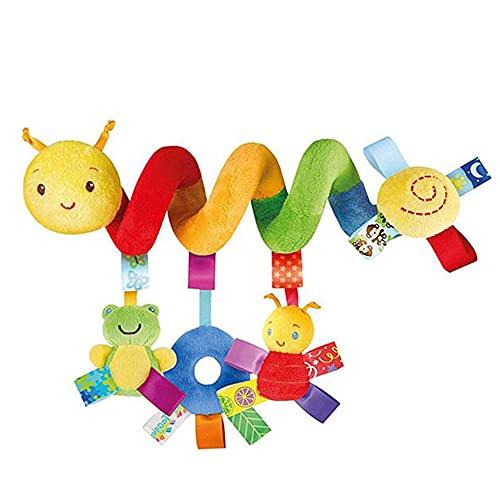 iSinofc Babyschale Spielzeug, Spirale Plüschtiere Spielzeug für Babyschale Kinderwagen Rasseln Baby beruhigendes Spielzeug Baby Früherziehung Spielzeug Spielen für Kleinkind Jungen Mädchen