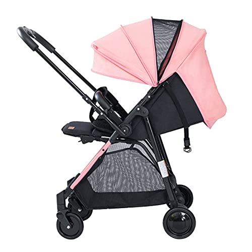 Hochformat Kinderwagen, wendbarer Zwei-Wege-Buggy für Kleinkinder, stilvoller leichter kompakter Kinderwagen faltbar, von der Geburt bis 25 kg, Grau