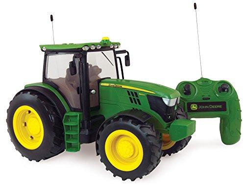 Britains 42838 Radio Controlled JD6190R Traktor, das originalgetreue Replikat im Maßstab 1:16 mit Fernsteuerung, Lichter und Motorengeräusche lässt Kinder- und Sammlerherzen höher schlagen. Für Kinder Ab 3 Jahre