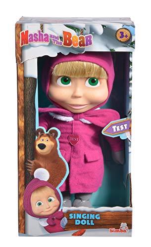 Simba 109301035 - Mascha und Der Bär Singende Puppe, 30 cm