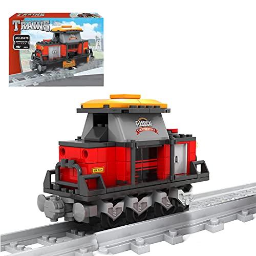Myste Technik Zug Eisenbahn, 151+Teile City Güterzug Bausteine Modell mit Schienen, City Zug Klemmbausteine Bauset Konstruktionsspielzeug Kompatibel mit Lego Technik Zug