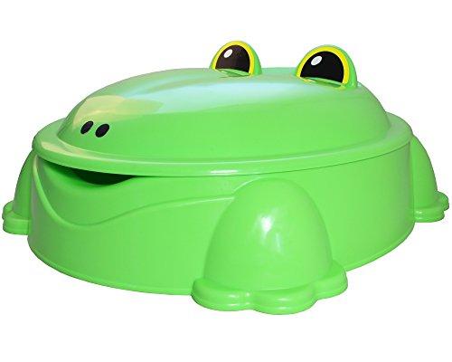 Ondis24 Sandkasten mit Deckel Planschbecken Freddy der Frosch