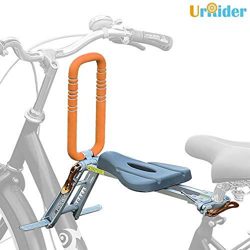 UrRider Fahrradkindersitz, Vorneliegender Fahrradsitz für Kinder, Faltbarer und ultraleichter Baby-Kinderfahrradträger-Handlauf für Cruiser/Faltbare/City-Shared-Bikes