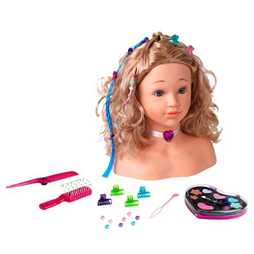 Theo Klein 5240 Princess Coralie Schmink- und Frisierkopf 'Sophia' I Mit Haarspangen, dermatologisch getestetem Make-Up und weiterem zahlreichen Zubehör