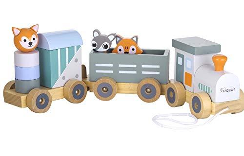 Kindsgut Holz-Eisenbahn zum Nachziehen und Stecken