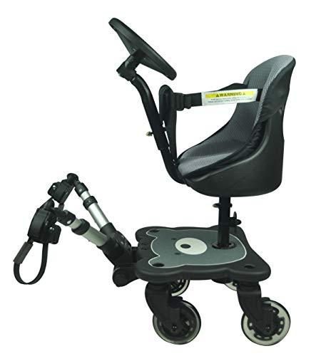 Roma 4 Rider Kindersitz und Lenkrad mit 4 Rädern, passend für alle Kinderwagen und Buggys