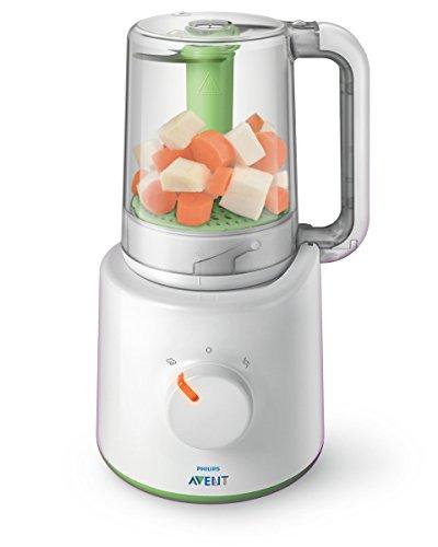 Philips Avent 2-in-1 Babynahrungszubereiter SCF870/20, Dampfgaren und Mixen, 800 ml Kapazität, weiß, 1 stück, Weiß