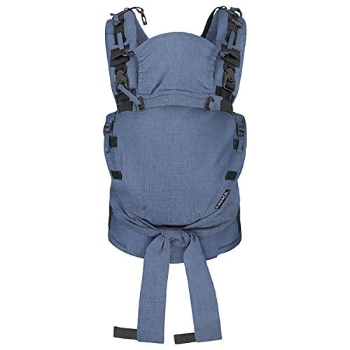 Hoppediz NABACA Komfort-Modultrage Basic-Set Kreta - Babytrage ab Geburt ✓ Bauchtrage ✓ Rückentage ✓ Individuell anpassbar ✓ Ausgezeichnet ✓ kbA-Qualität (Bio) ✓