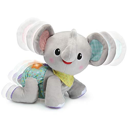 VTech Baby Krabbel-mit-mir-Elefant – Interaktives Plüschtier, das alleine krabbelt, zählt, spricht und singt – Für Kinder von 9-36 Monaten