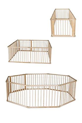 dibea DP00582, Holz Laufstall, Laufgitter mit Tür, ideal für Baby & Kleinkind (8 Elemente, je 90x68 cm)