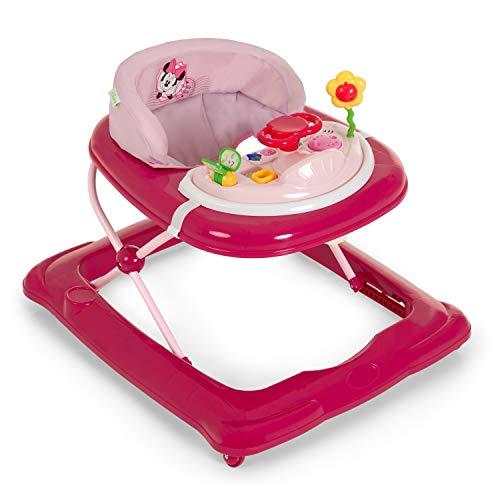 Hauck Lauflernhilfe Player Disney - Walker ab 6 Monaten, Gehfrei mit Spielcenter und Rollen, höhenverstellbar, pink rosa (Minnie Pink II)