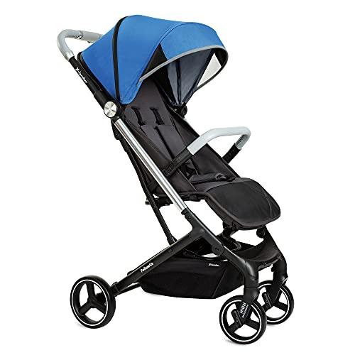X-lander Buggy X-Follow Kinderwagen Buggy mir Liegeposition Kindersportwagen Einhändig faltbar Reisebuggy zusammenklappbar (Cosmic blue)