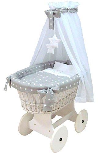 Babymajawelt® 10-teiliger Stubenwagen mit großen Rädern