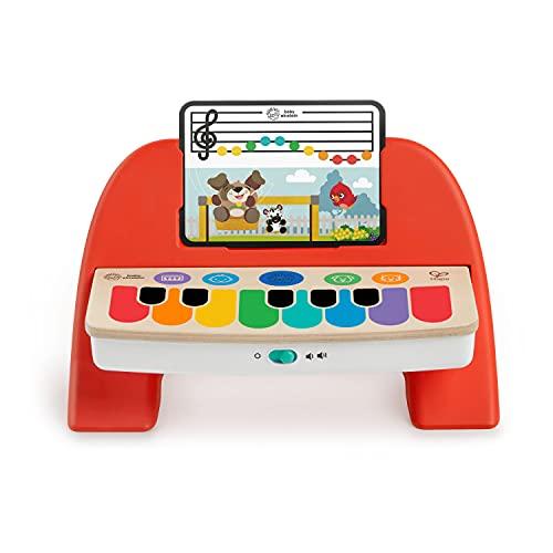 Baby Einstein 12577 Hape Cal's First Melodies Magic Touch Piano Musikspielzeug Klavier aus Holz mit 3 Musikblättern, 6 Melodien, ab 6 Monate, mehrfarbig
