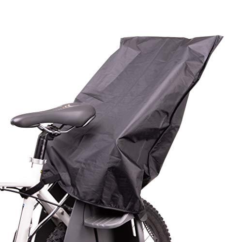 Zamboo Regenschutz für Fahrradkindersitz - wasserdichte Abdeckung/Regenhülle für Kinder Fahrradsitz hinten (passend für Römer, Hamax, Thule etc.) - Schwarz