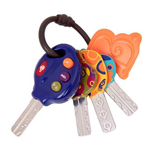 B. toys by Battat BX1930Z Luckeys Spielzeugschlüssel Blau für Kinder und Babys – Autoschlüssel Licht und Geräuschen Baby Spielzeug ab 10 Monaten