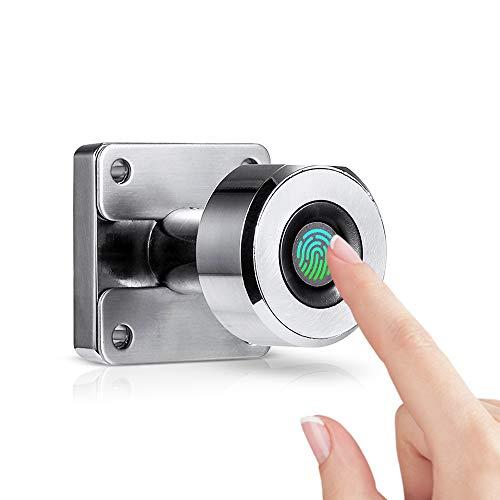 Bedler Fingerabdruck-Schubladenschloss Digitale Schrankschlösser 20 Fingerabdrücke Wiederaufladbare schlüssellose Möbel Eingebautes Smart Lock aus Zinklegierung für das Home-Office-Fitnessstudio Fing