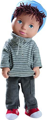 HABA 305584 305584-Spielpuppe Matti, Puppe mit weichem Körper, Gliedmaßen und Kopf aus Vinyl, 32 cm, Spielzeug ab 3 Jahren