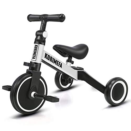 KORIMEFA 3 in 1 Kinder Dreirad Laufräder Laufrad Kinderdreirad Lauffahrrad für Kinder ab 1 Jahre bis 3 Jahren