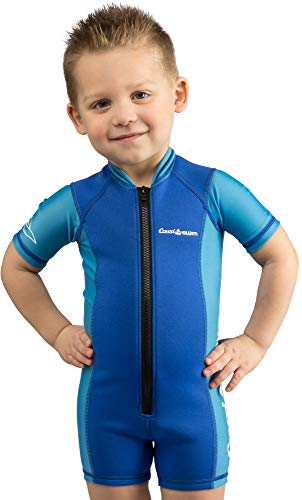 Cressi Kid Shorty Wetsuit 1.5 mm - Shorty Neoprenanzug für Kinder Ultra Stretch Neopren, Blau/Hellblau, S (2 Jahre)
