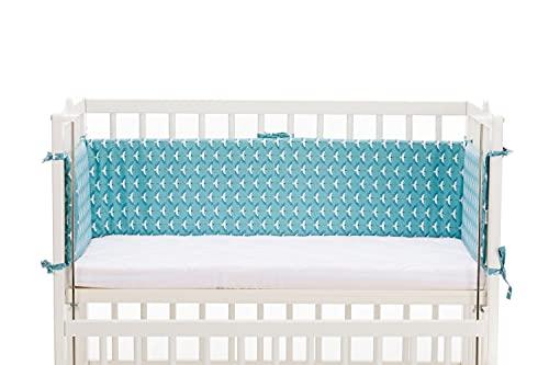 Fillikid Nestchen Exclusiv   Babynestchen für Beistellbett, Babybett, Kinderbett & Stubenwagen - Weiche Bettumrandung Länge ca.165x26 cm, Babybettumrandung ideal für Vario und Cocon