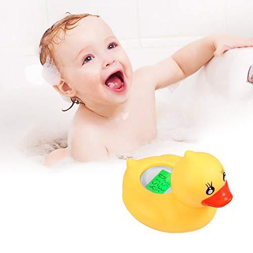 Konesky Baby Badethermometer, IP67 Wasserdichtes Badewassertemperatur Thermometer Gelbes Enten Spielzeug mit Warnendem Alarm LED