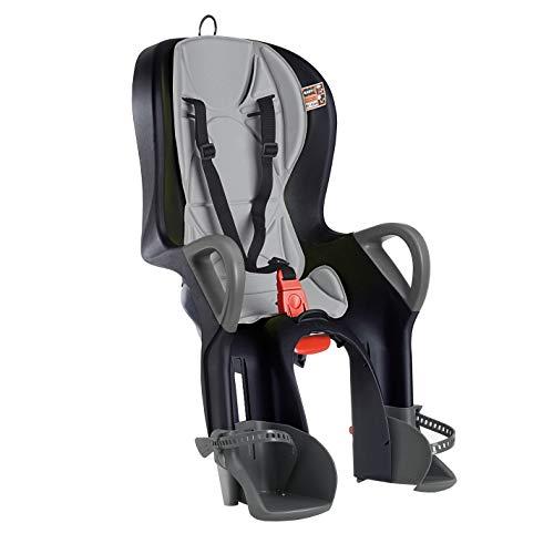 OKBABY 10+ - Fahrradsitz hinten für Kinder bis 22 kg mit Liegefunktion - Schwarz und Grau