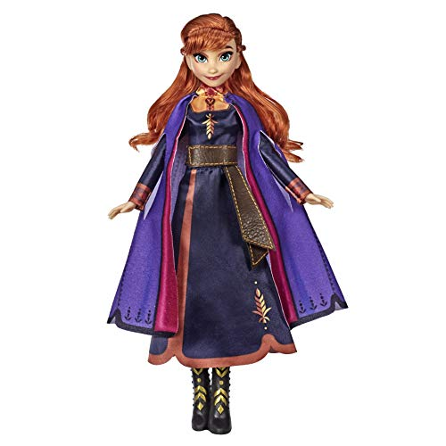Hasbro E6853GC0 Disney Die Eiskönigin Singende Anna Puppe mit Musik in lila Kleid zu Disneys Die Eiskönigin 2, Spielzeug für Kinder ab 3 Jahren