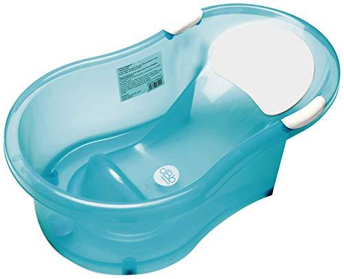 dBb Remond 306249 Baby-Badewanne mit integriertem Sitz; Türkis transparent, 0-6 Monate