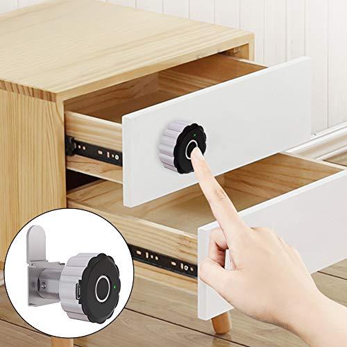Smart Cabinet Locks Wiederaufladbarer USB-Port Office File Cabinet Lock Sensitive Home Smart Fingerprint für Schubladen, Bürodaten, Türen für Schränke, Schiebetüren
