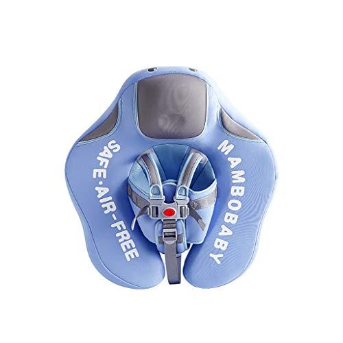 TRFPLOOC Schwimmring Baby schwimmring Kinder Nicht aufblasbare Baby Schwimmenmit Einstellbare Sicherheitsgurt Anti-Rollover kann mit Markise Schwimmringen Training for Badewanne Schwimmbäde