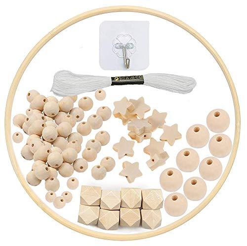 DIY Holz Mobilen Rahmen Windspiel Bettglocke Kit, Natürliche Handwerk Holzperlen Wind Glockenspiel, Baby Mobile Glocke Kit Handgemacht Spielzeug, Zimmer Wohnkultur Dekor Geschenk für Kinder