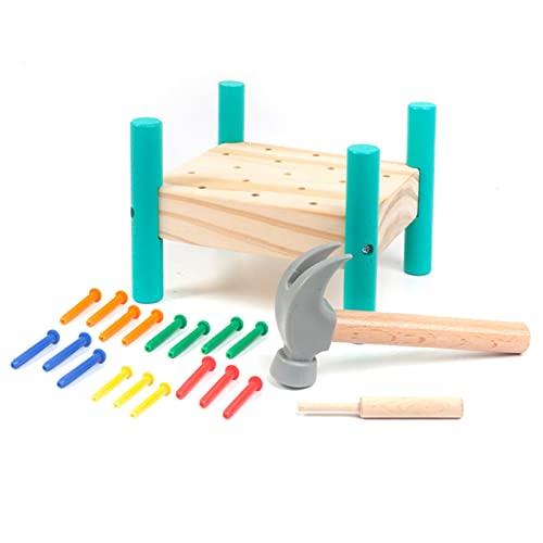 Kaicurhu Hammerspiel Für Kinder Junge Mädchen Klopfbank Holz Werkbank Kinder Holzspielzeug Kinderspielzeug Motorikspielzeug