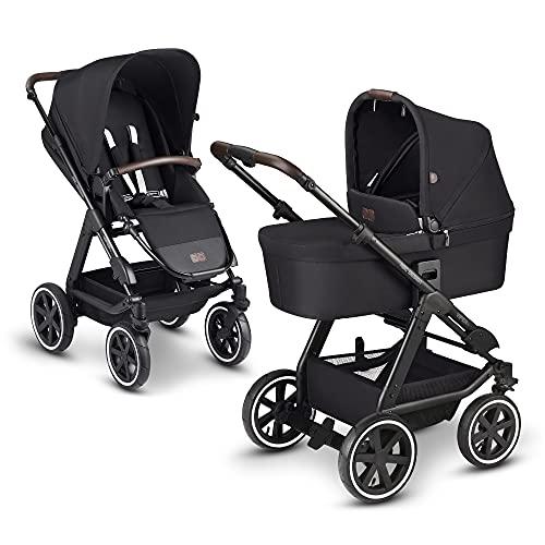 ABC Design 2 in 1 Kinderwagen Viper 4 Fashion Edition – Kombikinderwagen für Neugeborene & Babys – Inkl. Sportsitz Buggy & Tragewanne – Radfederung & Luftreifen – Farbe: midnight
