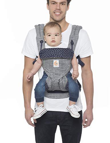 ERGObaby Babytrage bis 20kg, 360 Star Dust 4-Positionen Baby-Tragesystem, Kindertrage Rückentrage Bauchtrage